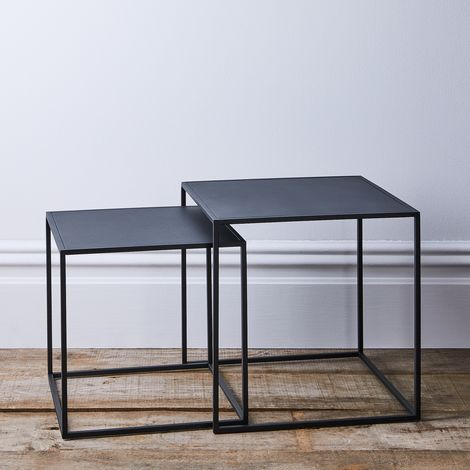 Modern Industrial Nesting Side Tables (Set of 2)