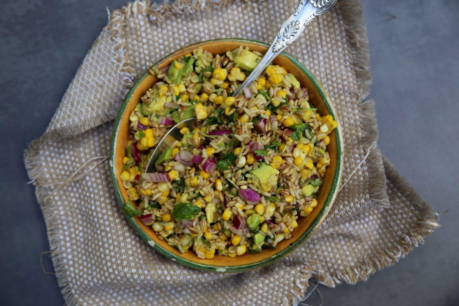 Barley, Corn, and Avocado Salad