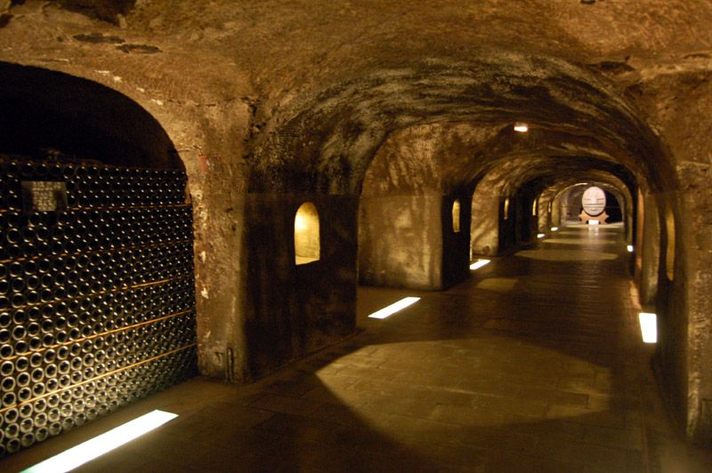 The Champagne caves at Moët.