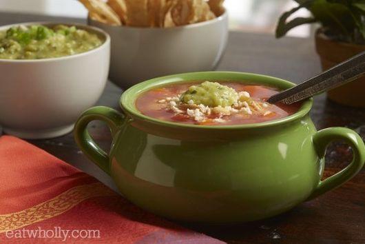 Salsa Chicken Tortilla Soup by Wholly Guacamole