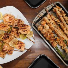 Grilled Salmon and Shrimp Rosemary Skewers...