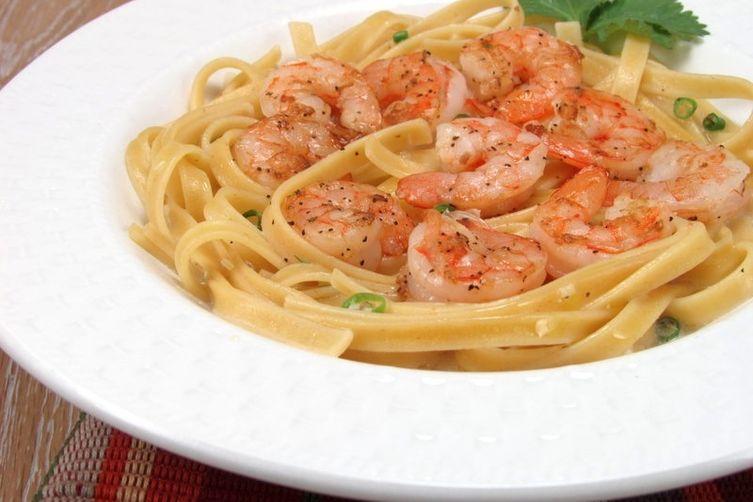 Shrimp & Fettucine in Creamy Coconut Sauce