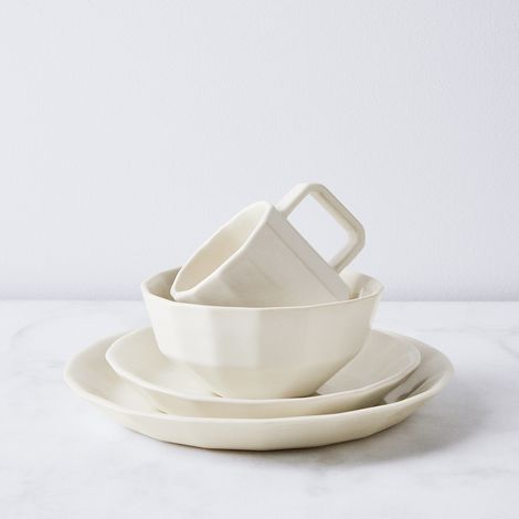 Handmade Faceted Porcelain Dinnerware