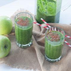 Green Apple and Cinnamon Smoothie