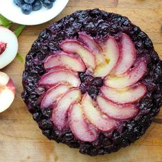 Blueberry, Peach & Lemon Verbena Upside Down Cake