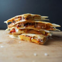 Chile Roasted Squash Quesadillas