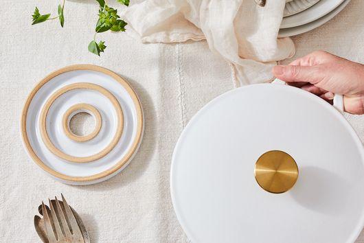 Handmade Ceramic Bullseye Trivet