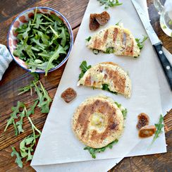 White Cheddar Fig Grilled Cheese