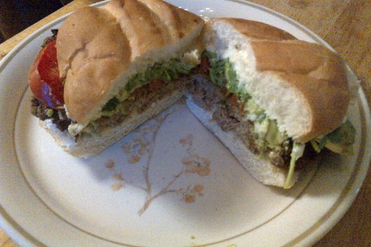 Tortas With Carne, Avocado and Tomato