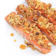 Honey Walnut Crusted Salmon