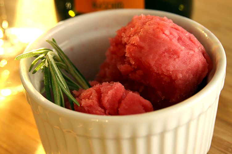 Blood Orange Rosemary Sorbet