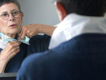 How Dorie Greenspan Ties Her Signature Neck Scarves