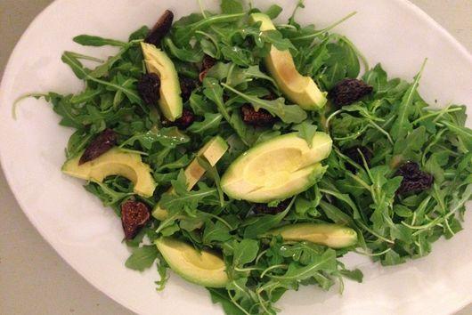 Fig, Arugula, Avocado Salad & Honey Mustard Vinaigrette