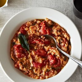 Tuscan Bread Soup with Sage Oil Drizzle