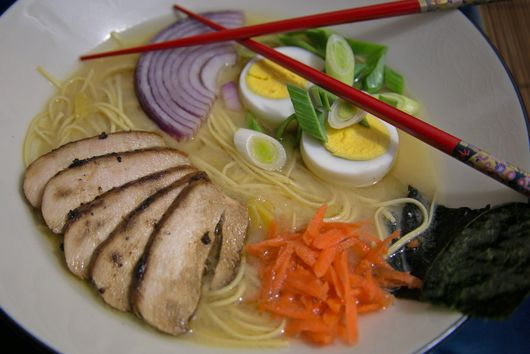 Chicken and Miso Ramen Noodle Soup