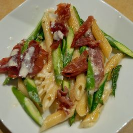 Penne with Asparagus, Proscuitto and Lemon
