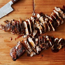 Brown sugar and balsamic glazed pork tenderloin by Karen