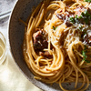 Spaghetti Aglio e Olio e Salsiccia (Spaghetti With Garlic, Olive Oil & Sausage)