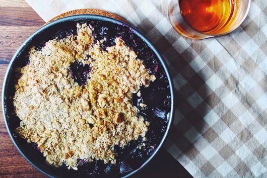 Blueberry, Nectarine & Bourbon Crisp