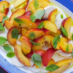 Rosé-Macerated Peaches with Mozzarella