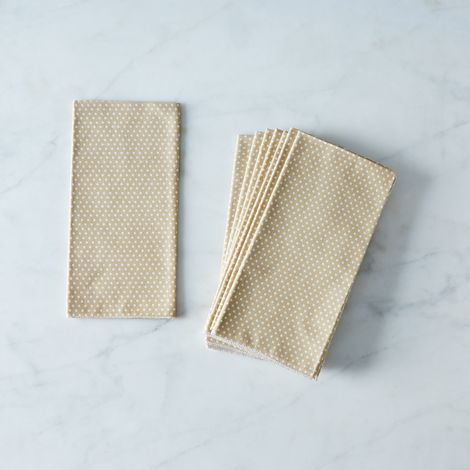 Tan Dots Cotton Napkins (Set of 4)