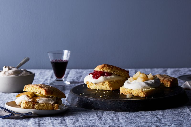 Easy Breezy Fall Shortcakes (Cranberry, Salted Caramel-Apple, Ginger-Pear)