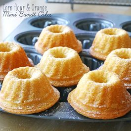 Corn flour and Orange Mini Bundts