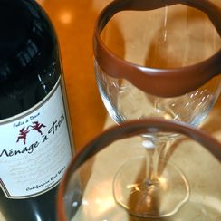 Chocolate dipped Wine Glasses