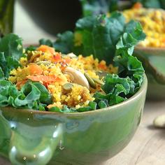 Warm Apple & Carrot Couscous Salad