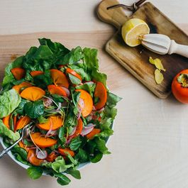 Persimmon, Radish, and Watercress Salad