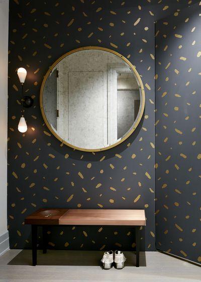 A Juju Paper-ed hallway by Current Interiors