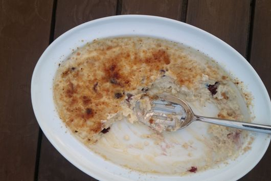 Brûléed Rice Pudding with Dried Cranberries