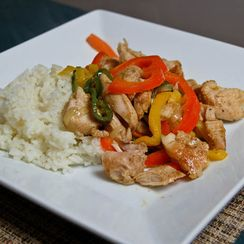 Spiced Chicken with 3 Pepper Rajas