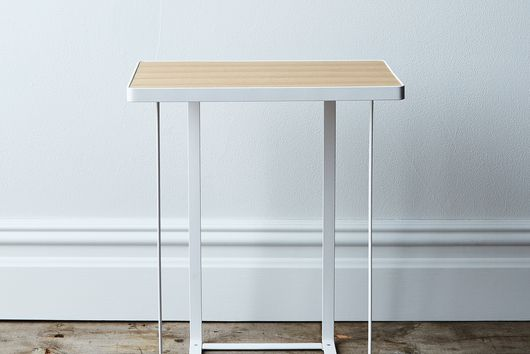 Wood-Top Side Table
