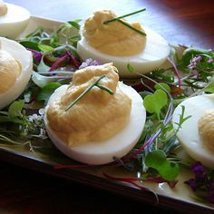 Smoked Trout Deviled Eggs