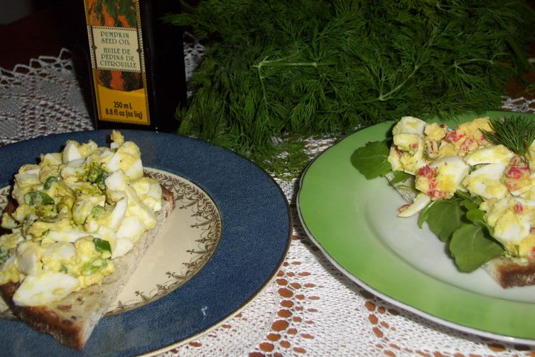 Egg salad two ways no mayo