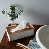 Wood & Steel Tissue Box