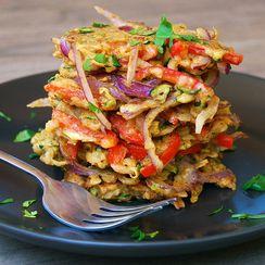 Indian Spiced Leftover Summer Vegetable Fritters
