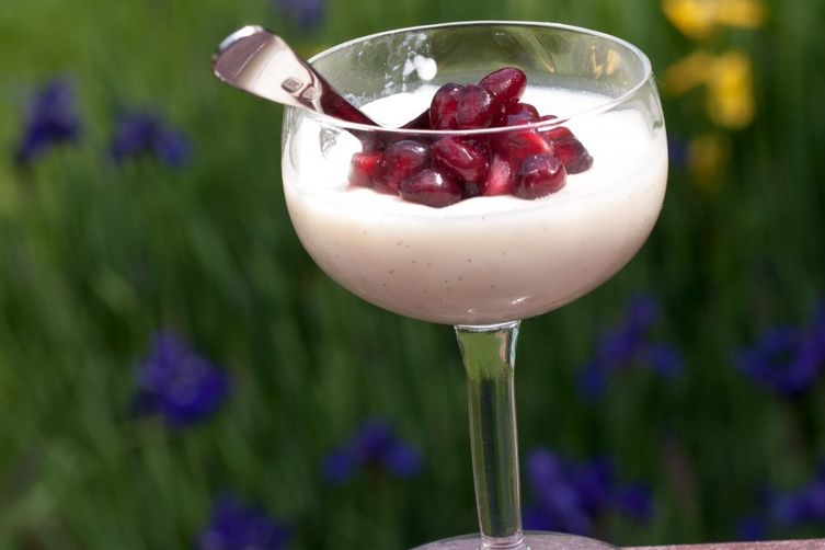 Vanilla Buttermilk Panna Cotta with Roasted Cherries