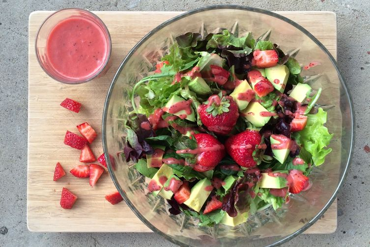 strawberry + avocado salad