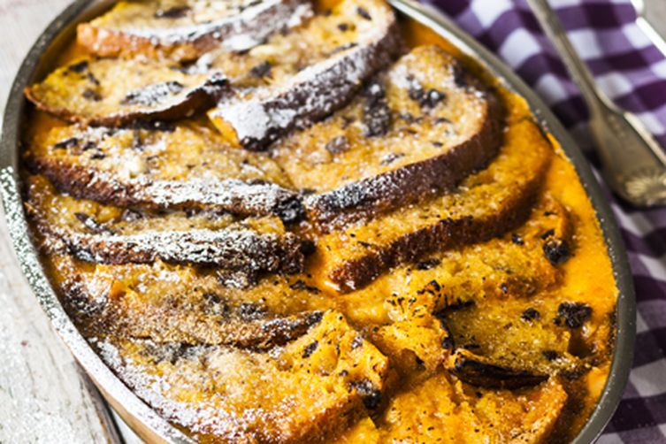 sweet potato and chocolate panettone bread and butter pudding Recipe ...