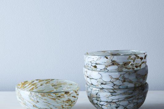Glass Confetti Bowls (Set of 4)
