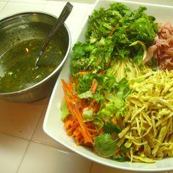 Korean cold noodle salad