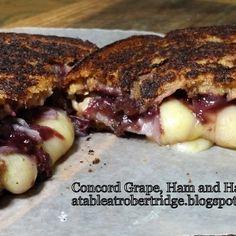 Concord Grape, Ham and Havarti Grilled Cheese