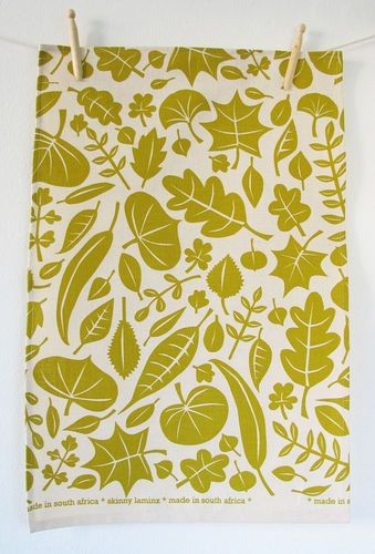 Leaves Tea Towel