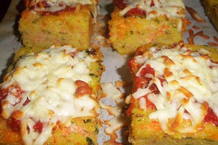 Snow crab polenta bake