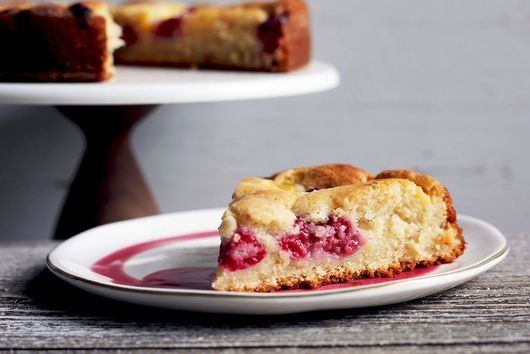 Raspberry Peach Butter Cake