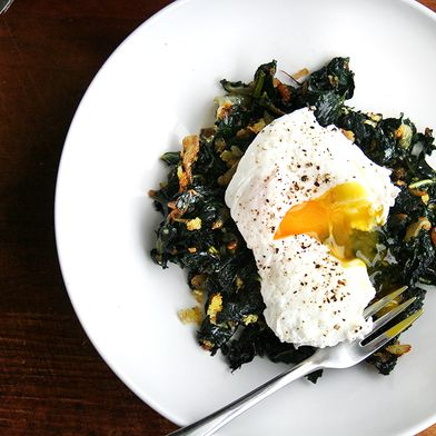 07754c65 62f6 4fdb 9ec5 349c2b12c6c6  slowcookedkalewithpoachedegg What to Cook in Our Itty, Bitty, Pretty Staub Stovetop Rice Cooker