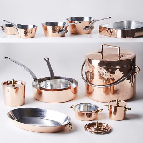 Vintage Copper French Roche Cookware, Late 19th Century