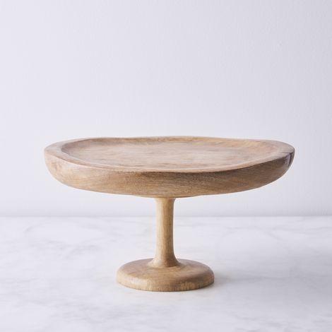 Handmade Wood 2-in-1 Cake Stand